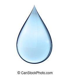 water, witte , druppel, 3d