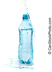 water, witte , fles, achtergrond