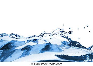 water, witte , gespetter, vrijstaand, golf