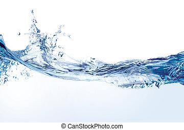 water, witte , gespetter, vrijstaand