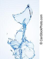 water, witte , vrijstaand, gespetter