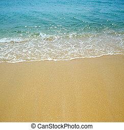 water, zand, achtergrond, golf