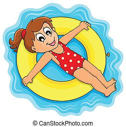 water, zomer, thema, 1, activiteit