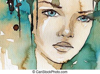 watercolor, illustratie
