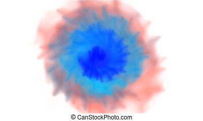watercolor, rook, kleur, animatie