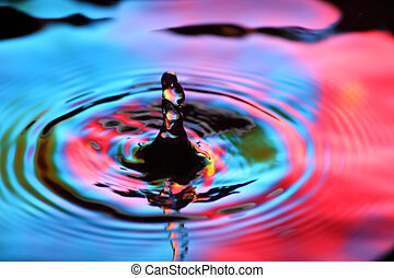 waterdaling, kleurrijke