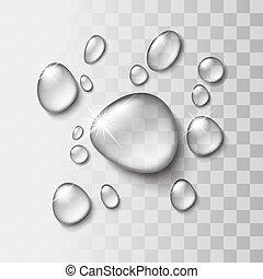 waterdaling, transparant