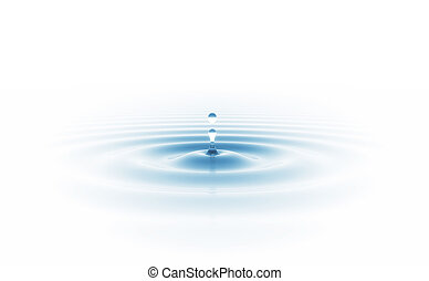 waterdaling, vrijstaand, witte