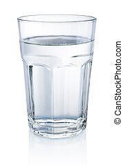 waterglas, witte , vrijstaand, achtergrond