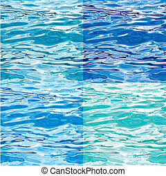 waterpatroon, variaties, seamless, oppervlakte