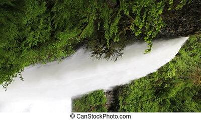 waterval, bovenleer, noorden, verticaal, dalingen