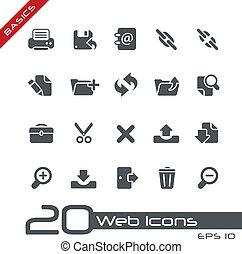 //, web, grondbeginselen, iconen
