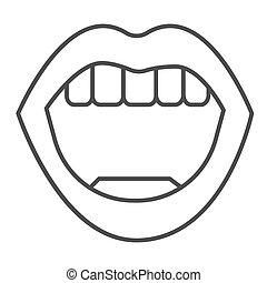 web, menselijk, pictogram, mond, graphics., witte , concept, stijl, achtergrond, dune lijn, meldingsbord, vector, schets, beweeglijk, lichaam, lippen, open, pictogram, sexy, concept, design.