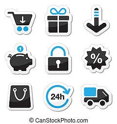 web, set, shoppen , iconen, -, /, internet