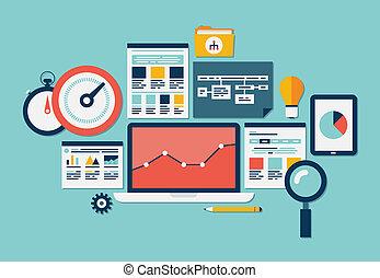 website, seo, analytics, iconen