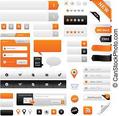website, set, grafiek