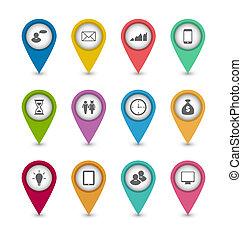 website, set, opmaak, zakenbeelden, ontwerp, infographics