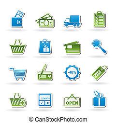 website, shoppen , iconen