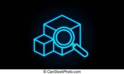 website., tracking., pakket, online, concept., graphics., tracking, verpakken, motie, moderne