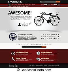 website, web ontwerp, mal, element