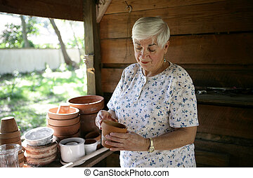 weefgaap (weefsprong, potting