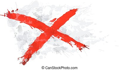 weergeven, gebruikt, heilige, unie, eiland, vlag, dommekracht, ierland, patrick's