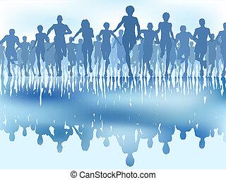 weerspiegelde, renners