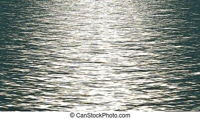 weerspiegelen, witte , ocean., licht