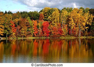weerspiegelingen, herfst