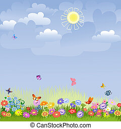 wei, zonnige dag