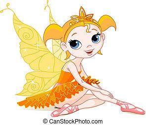 weinig; niet zo(veel), elfje, sinaasappel, ballerina