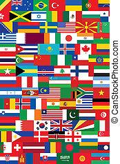 wereld, vlaggen, achtergrond