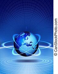wereldbol, actie, technologisch