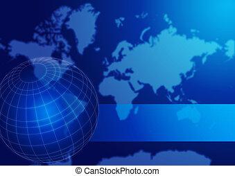 wereldbol, kaart