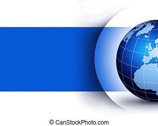wereldbol, ontwerp, concept