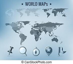 wereldkaart, vector