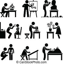 werk, werken, kunst, artistiek, beroep