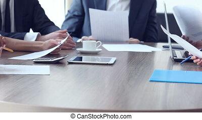 werken, documenten, zakenlui
