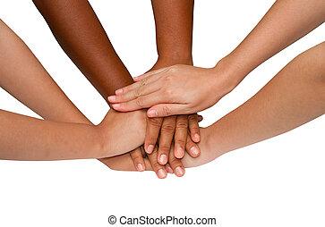 werken, geest, groep, na, teamwork, succesvolle , team