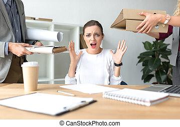 werken, het schreeuwen, vrouw, because, partij