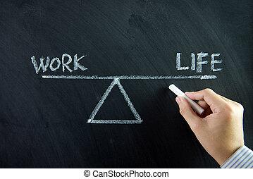werken, leven, evenwicht