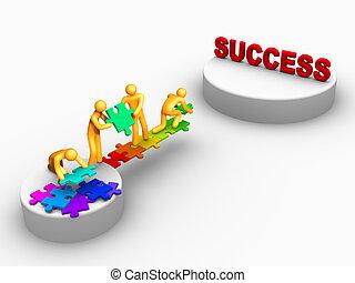 werken, succes, team