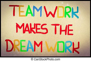 werken, teamwork, concept, droom, maakt