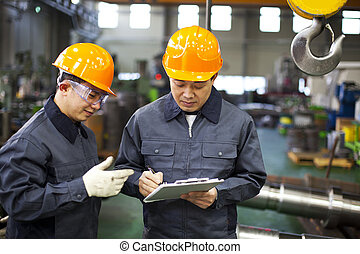werkmannen , fabriek