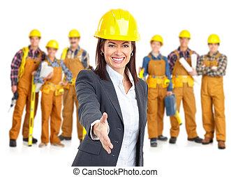 werkmannen , opdrachtnemers, mensen