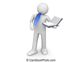werkmannen , schrijver, -, verzameling