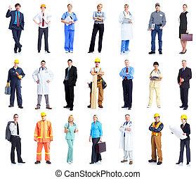 werkmannen , set, mensen., zakelijk