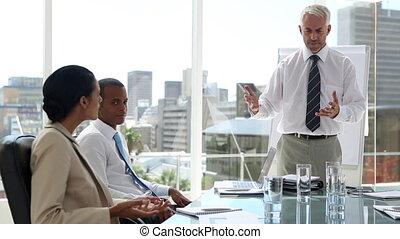 werknemer, het verlenen buiten, zakenman