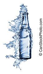wezen, water, geregen, fles