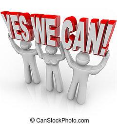 wij, succes, -, samen, besluit, groenteblik, team, ja, werken